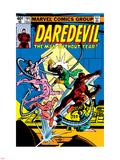 Daredevil No.165 Cover: Daredevil and Doctor Octopus Crouching Muursticker van Frank Miller