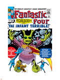 The Fantastic Four No.24 Cover: Mr. Fantastic Plastic Sign by Jack Kirby