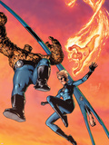 Fantastic Four No.514 Cover: Mr. Fantastic, Invisible Woman, Human Torch, Thing and Fantastic Four Plastic Sign by Gene Ha