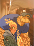 Human Torch No.12 Cover: Human Torch and Thing Wall Decal by Skottie Young