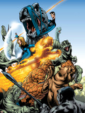 Marvel Adventures Fantastic Four No.5 Group: Mr. Fantastic Plastic Sign by Manuel Garcia