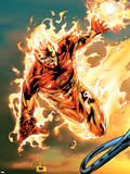 Ultimate Fantastic Four No.54 Cover: Human Torch Plastic Sign by Billy Tan