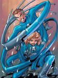 Marvel Age Fantastic Four No.2 Cover: Mr. Fantastic and Invisible Woman Art by  Gurihiru