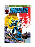 Daredevil No.160 Cover: Bullseye, Black Widow and Daredevil Charging Kunststof borden van Frank Miller