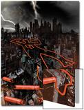 Daredevil: Reborn No.1 Cover: The City at Night Prints by  Jock