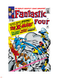 The Fantastic Four No.28 Cover: Mr. Fantastic Plastic Sign by Jack Kirby