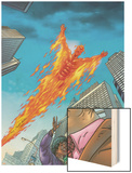 Human Torch No.10 Cover: Human Torch Posters by Joe Dodd