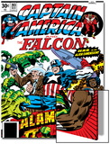 Captain America And The Falcon No.203 Cover: Captain America, Falcon, Marvel Comics and Thor Poster by Jack Kirby