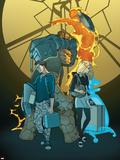 Ultimatum: Fantastic Four Requiem No.1 Cover: Richards Plastic Sign by Pasqual Ferry