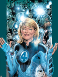 Ultimate Fantastic Four No.5 Cover: Invisible Woman Plastic Sign by Bryan Hitch