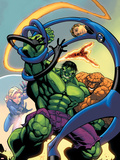 Marvel Age Fantastic Four No.12 Cover: Hulk Plastic Sign by Randy Green