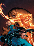 Marvel Knights 4 No.1 Cover: Mr. Fantastic, Invisible Woman, Human Torch, Thing and Fantastic Four Plastic Sign by Steve MCNiven