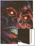 Captain America Reborn No.3 Headshot: Red Skull Wood Print by Rian Hughes