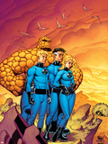 Fantastic Four No.511 Cover: Mr. Fantastic, Invisible Woman, Human Torch, Thing and Fantastic Four Plastic Sign by Mike Wieringo