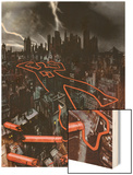Daredevil: Reborn No.1 Cover: The City at Night Wood Print by  Jock