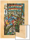 Captain America & The Falcon No.13 Cover: Captain America, Falcon and Spider-Man Wood Print by John Romita Sr.