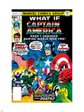 What If 5 Cover: Captain America and Red Skull Flying Plastic Sign by George Tuska