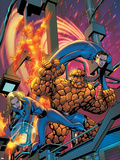 Fantastic Four No.535 Cover: Human Torch, Invisible Woman, Mr. Fantastic, Thing and Fantastic Four Plastic Sign by Mike McKone