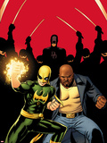 Daredevil No.509 Cover:  Iron Fist, Luke Cage, and Daredevil Posing Plastic Sign by John Cassaday