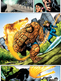 Marvel Adventures Fantastic Four No.5 Group: Invisible Woman, Thing and Human Torch Art by Manuel Garcia
