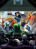 Marvel Adventures Fantastic Four No.36 Cover: Thing, Human Torch, Mr. Fantastic and Invisible Woman Plastic Sign by Dennis Callero