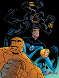 Fantastic Four Tales No.1 Group: Black Panther, Mr. Fantastic, Invisible Woman and Thing Plastic Sign by Michael OHare