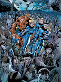 Fantastic Four No.555 Cover: Invisible Woman and Mr. Fantastic Plastic Sign by Bryan Hitch