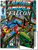 Captain America & The Falcon No.13 Cover: Captain America, Falcon and Spider-Man Prints by John Romita Sr.