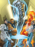 Ultimate Fantastic Four No.43 Cover: Mr. Fantastic Plastic Sign by Pasqual Ferry