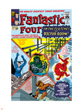 The Fantastic Four No.17 Cover: Mr. Fantastic Plastic Sign by Jack Kirby