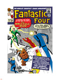 The Fantastic Four No.20 Cover: Mr. Fantastic Plastic Sign by Jack Kirby