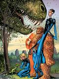 Marvel Adventures Fantastic Four No.5 Cover: Mr. Fantastic Plastic Sign by Manuel Garcia