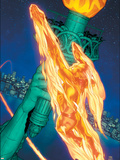 Marvel Knights 4 No.15 Cover: Human Torch Plastic Sign by Steve MCNiven