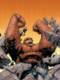 Marvel Knights 4 No.10 Cover: Thing Fighting Poster by Steve MCNiven