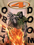 Marvel Knights 4 No.17 Cover: Dr. Doom and Human Torch Flying Plastic Sign by Jim Muniz