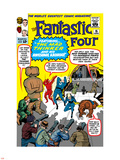 The Fantastic Four No.15 Cover: Mr. Fantastic Plastic Sign by Jack Kirby