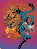 Marvel Age Fantastic Four No.7 Cover: Mr. Fantastic Plastic Sign by Makoto Nakatsuka