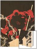 Daredevil Father No.1 Cover: Daredevil Wood Print by Joe Quesada