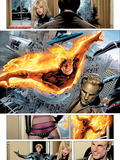 Ultimate Fantastic Four No.28 Group: Human Torch Print by Greg Land