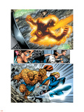 Marvel Adventures Fantastic Four No.5 Group: Human Torch, Invisible Woman and Thing Plastic Sign by Manuel Garcia