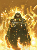FF No.2 Cover: Dr. Doom Standing in Flames Prints by Daniel Acuna