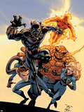 Fantastic Four Tales No.1 Cover: Black Panther Plastic Sign by Randy Green