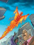 Human Torch No.10 Cover: Human Torch Wall Decal by Joe Dodd