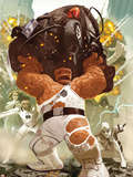 FF No.4 Cover: Thing, Mr. Fantastic, Invisible Woman, Spider-Man, and Dr. Doom Plastic Sign by Daniel Acuna