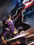 Captain America No.610 Cover: Captain America and Baron Zemo Fighting Plastic Sign by Marko Djurdjevic