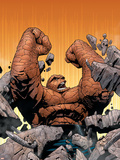 Marvel Knights 4 No.10 Cover: Thing Fighting Plastic Sign by Steve MCNiven