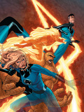 Marvel Knights 4 No.9 Cover: Mr. Fantastic, Invisible Woman, Human Torch, Thing and Fantastic Four Prints by Steve MCNiven