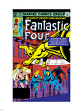 Fantastic Four No.241 Cover: Black Panther, Human Torch, Thing, Invisible Woman and Mr. Fantastic Plastic Sign by John Byrne