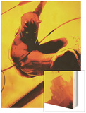 Daredevil: Reborn No.2 Cover: Daredevil Jumping Wood Print by  Jock