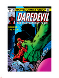 Daredevil No.163 Cover: Hulk and Daredevil Fighting Plastic Sign by Frank Miller